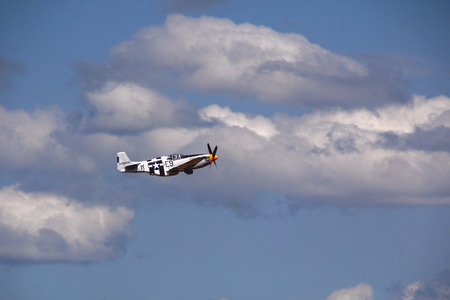 long range: An American P-51B Mustang used as a long range bomber during WWII.