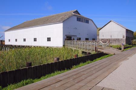 britannia: A restored cannery building found at the Britannia Heritage Shipyard in Richmond, BC, Canada.