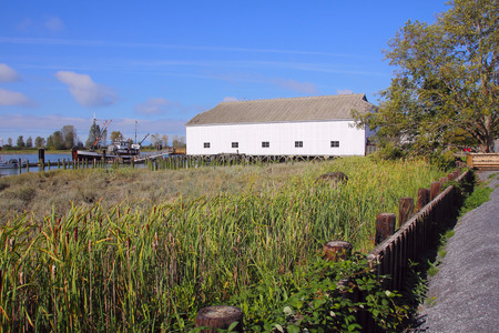 britannia: A preserved heritage site in Steveston, British Columbia, Canada that gives visitors insight into the early days of fishing on the west coast. Stock Photo