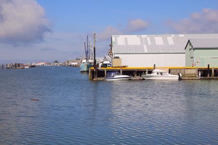 dockside: The waterfront in Steveston, British Columbia, Canada.