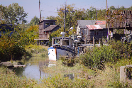 decades: Finn Slough, a collection of ragtag dwellings that has been part of Richmonds landscape for many decades.