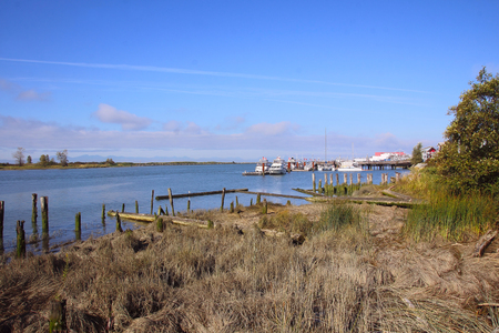 canadian pacific: The quaint, historic fishing village of Steveston, British Columbia on Canadas west coast. Stock Photo