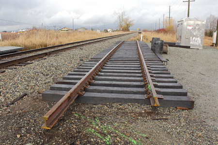 configured: A railway track section has been assembled for installation on line.