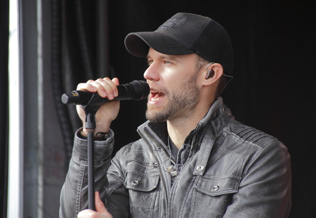 Canadian singer, songwriter Chad Brownlee performs in Abbotsford, BC on Sunday, February 21, 2016.