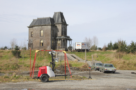 Set preparations for  filming the TV series Bates Motel in Aldergrove, British Columbia.