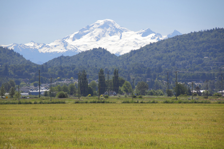 threaten: A heavy snow pack on Washingtons Mt. Baker could threaten flooding during the Spring months.