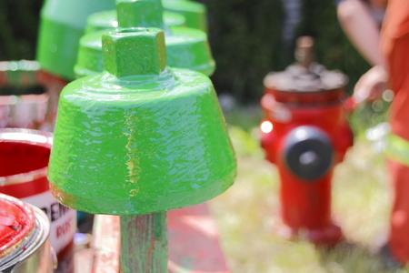borne fontaine: Fire Hydrant M�t�o Cap Banque d'images