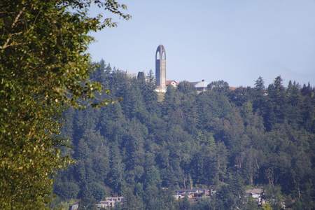 The Westminster Abbey tower in Mission, British Columbia where a convent resides.