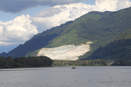 open pit: Open pit mining in the Pacific Northwest rain forest district