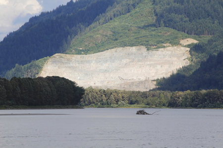 open pit: Open pit mining in the rain forest district of British Columbia, Canada
