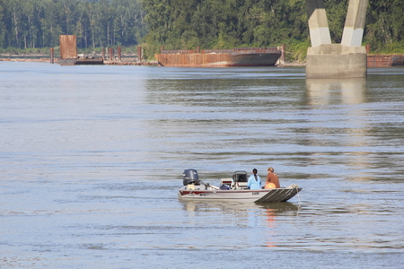first nations: People from Matsqui First Nations have inherent legal rights to fish for salmon on the Fraser River on August 3, 2016 near Matsqui, BC.