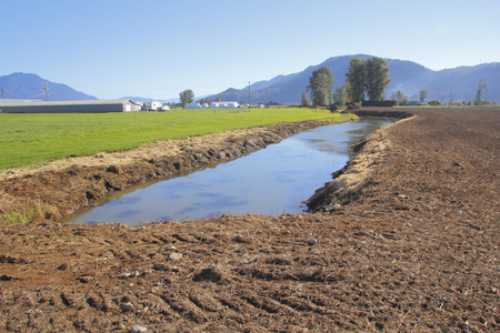 provide: A long, deep man made canal will be used to provide water for crops.