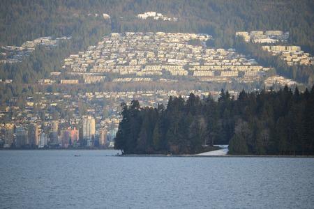 urban sprawl: Beyond Stanley Park, we see Vancouvers Northshore and urban sprawl.