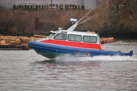 Public transportation services for coastal communities include water taxis Standard-Bild