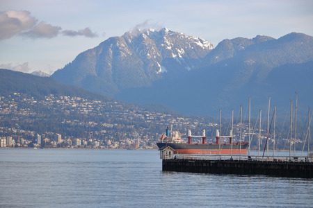 The city of North Vancouver on Canadas west coast, and the port of entry.