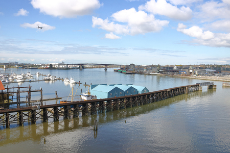 The south end of Vancouver, Canada, or the Marpole district on the edge of the Fraser River.