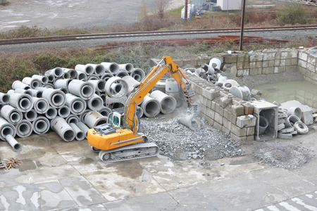 Cement products that are unusable are crushed and recycled.