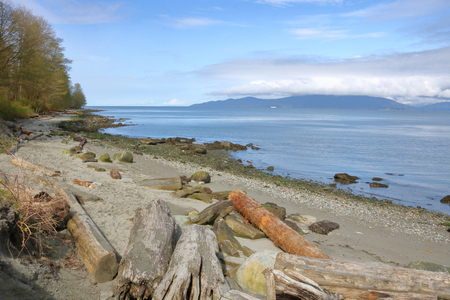 The edge of British Columbias Vancouver district with the Salish Sea in the distance.