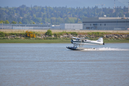 A Gulf Island Seaplane flying passengers to the Gulf Islands from Vancouvers YVR Airport on May 26, 2017. Editorial