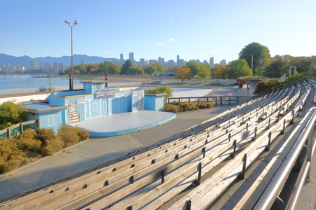 The Kitsilano Showboat Theater, an outdoor stage that provides live performances in Vancouver, BC as seen on October 2, 2017.
