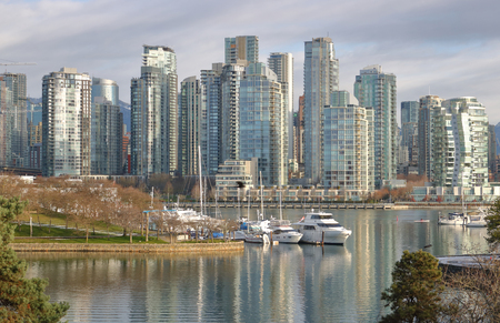 The core of British Columbia, Canadas largest city, Vancouver and the high density west coast living.