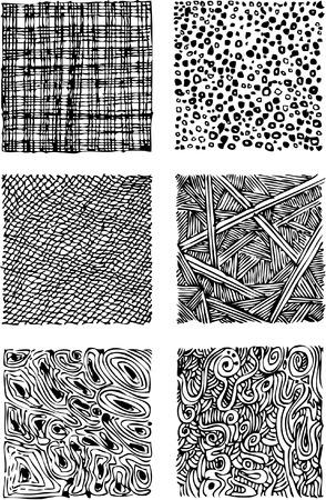 Black and white abstract, sketch, doodle. Ilustração