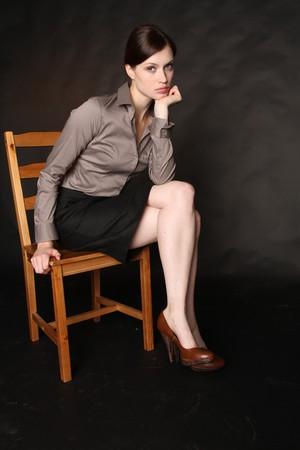 oppressed: A beautiful business woman