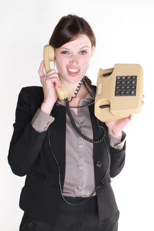 Woman with telephone photo