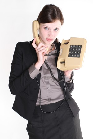 free plates: Woman with telephone