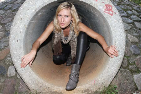 humanly: A woman in a tube