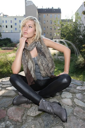humanly: A thoughtful woman Stock Photo