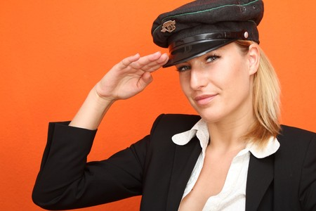 humanly: Woman with a cap Stock Photo