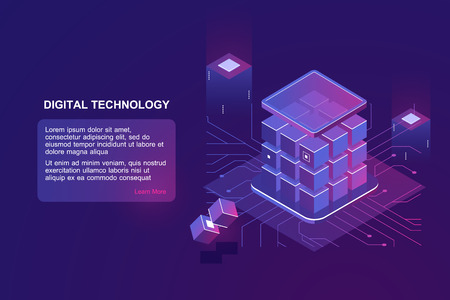 isometric vector technology Illustration