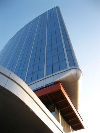 Fragment of modern building. Yekaterinburg. Russia Stock Photo - 6096486