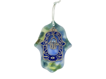 Hamsa hand amulet, used to ward off the evil eye in Mediterranean countries. photo