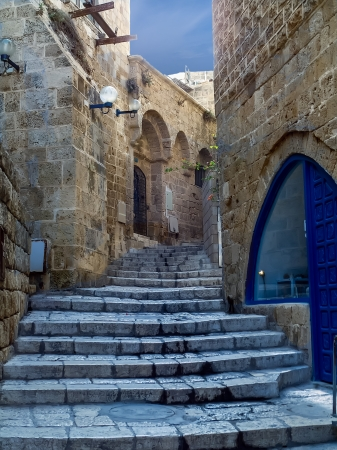 Street in old Jaffa, Tel Aviv, Israel  photo
