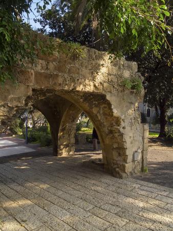 jaffa: Stone arch in old  Jaffa , Israel Stock Photo
