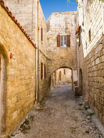 Rhodes Old town. Typical narrow lane. Greece. photo