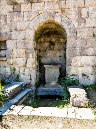 hippocrates: Historical ruins of Asclepieion, ancient Hospital made by Hippocrates in Kos, Greece.