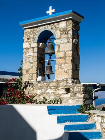 Belfry of church in Zia, Kos Island, Greece