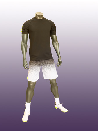 male mannequin: Male mannequin in sport athletics clothes. Stock Photo