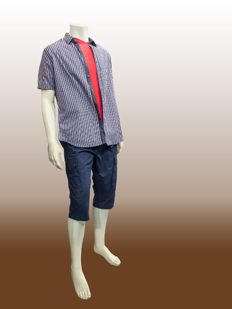 male mannequin: Male mannequin dressed in casual clothes isolated.