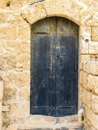 jaffa: Old metal door in historical city of Jaffa, Israel
