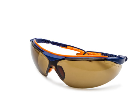 protective spectacles: Protective spectacles isolated on a white background