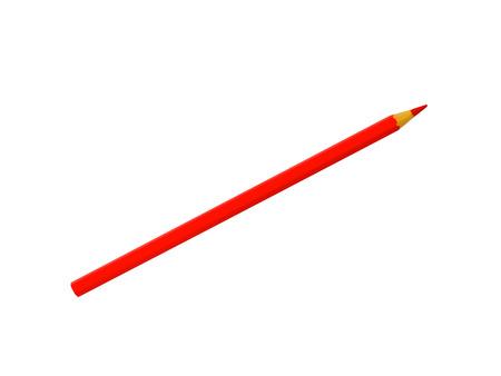 Rode potlood geïsoleerd op een witte achtergrond