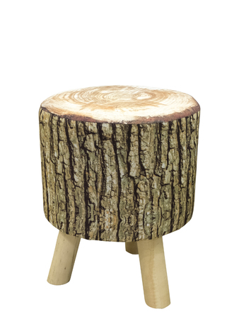 Padded stool in the form of a stub, isolated on a white background