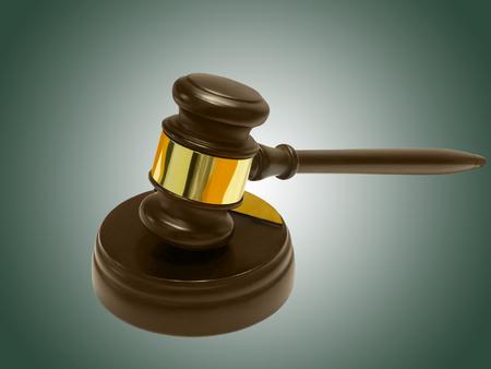 soundboard: Judges gavel and soundboard against green background