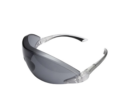 protective glasses: Fashionable dark toned protective glasses isolated in white background. Stock Photo