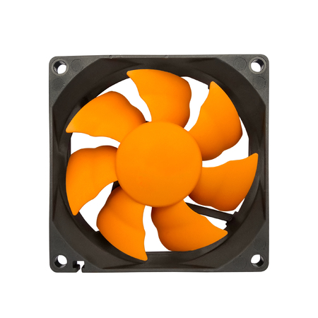 computer case: Computer case cooling fan isolated on white background