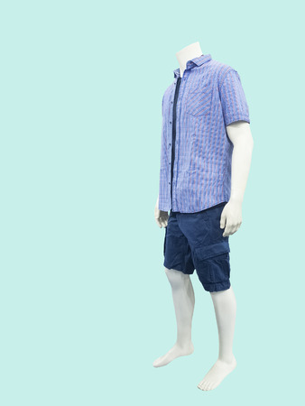 male mannequin: Male mannequin dressed in casual clothes isolated